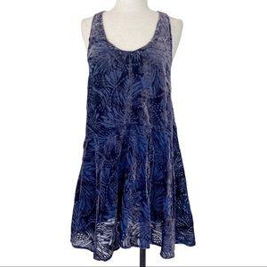 Free People Ellie velvet burnout stud mini dress